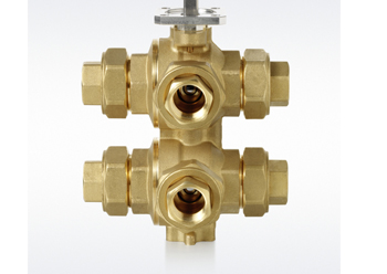 The six-way control ball valves