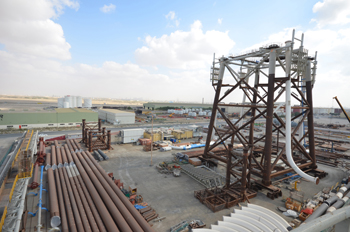 A fabrication yard of Technomak in Hamriyah Free Zone