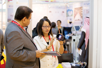 Product demonstration at the 2015 edition of Intersec