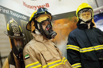 Honeywell protective gear was on view at the 2015 show