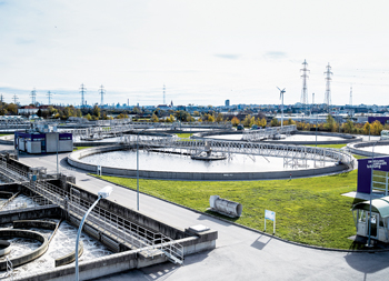 Vienna's main sewage treatment plant