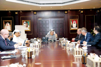Al Tayer presiding over a meeting with Itron officials