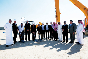 Officials at the groundbreaking ceremony
