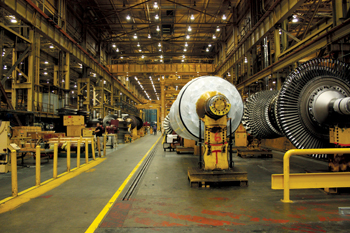 GE's gas turbine plant in Greenville, South Carolina, USA