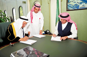 Signing of the property agreement