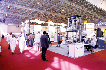 Polystar's pavilion at Expo Centre Sharjah's combination show