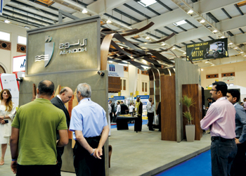 The Al-Nooh Wood Design stall at the 2015 gulfBID show