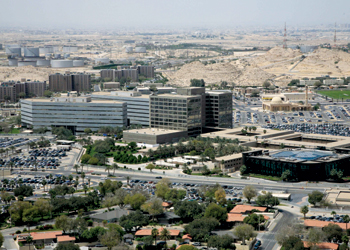 Saudi Aramco (headquarters in Dhahran pictured) is giving local resources a shot in the arm