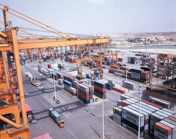 Salalah Port in the south of Oman