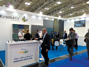 Emirates Insolaire's booth at Intersolar Europe in Munich