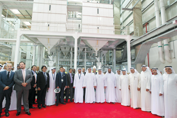 Officials from Al Dahra and Abu Dhabi Ports at the launch ceremony