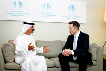 Bin Sulayem and Musk at the meeting