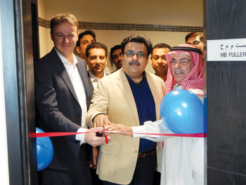 HB Fuller officials at the opening of its office in Dubai