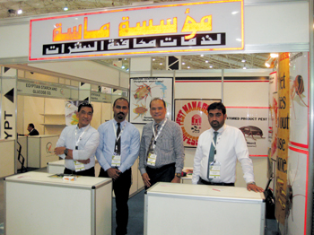 Masa specialists' team at a food exhibition in Riyadh in Saudi Arabia