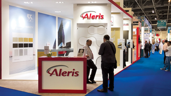 An Aleris stall at an exhibition