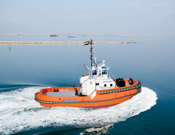An artist impression of Damen ASD Tug 2913