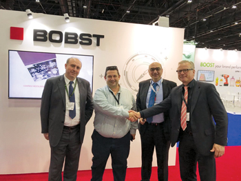 NDigitec and Bobst officials at Gulf Print &Pack 2017 exhibition
