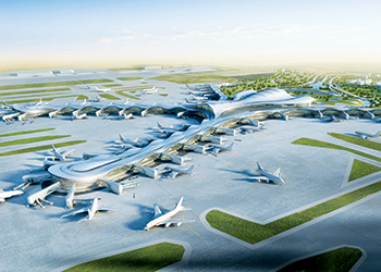 Abu Dhabi International Airport's new $6.8 billion Midfield Terminal Building (MTB) project