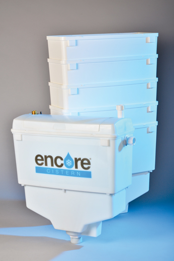 Encore holds 18-litres of water - three times more than a conventional cistern
