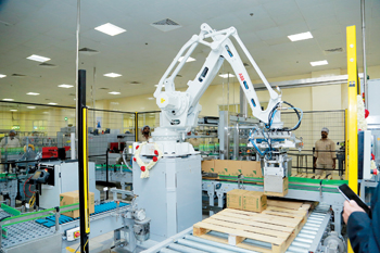 Dabur's new robot at its plant in RAK, UAE