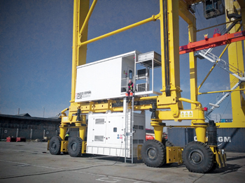 Himoinsa supplies generator sets for the cranes that load and unload the containers