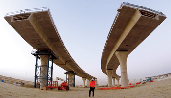 The new highway will significantly enhance the flow of traffic and shorten the journey times