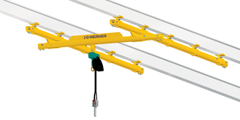 The J D Neuhaus C rail and light crane systems are suitable for use in explosion dust-laden areas