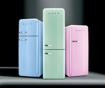 Leading the Smeg collection  is its '50's Retro Style' refrigerator line