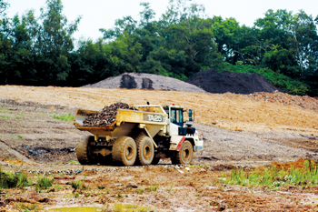 A longstanding customer, the family-owned business uses the dump trucks to remove the overburden