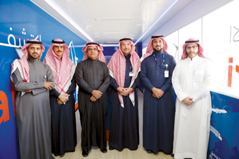 Bahri officials at the event