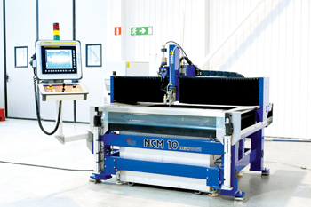 Water Jet Sweden's machine model NCM 10 is specially developed for the FAWJ process