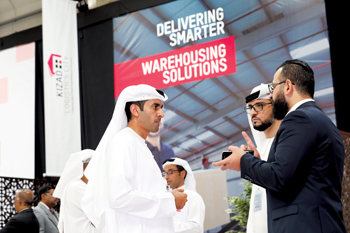 Officials at the launch of `on-demand' warehousing solutions at Kizad Logistics City