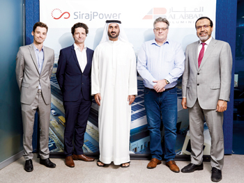 SirajPower and Al Abbar Aluminium officials at the signing ceremony