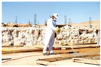 Termite proofing at a construction site