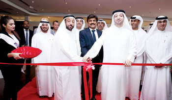 Officials at the inauguration of the Rexton facility at SAIF zone in Sharjah, UAE