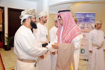 Officials at the signing ceremony of Salalah IWP project