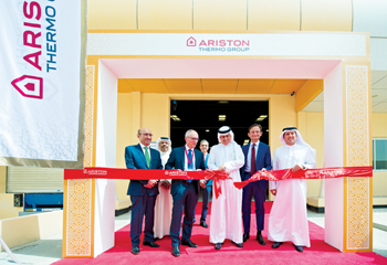 Ariston Thermo's water heater plant being inaugurated in Hidd, Bahrain