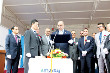 Bahri and HSH officials at the Amad VLCC delivery ceremony in South Korea