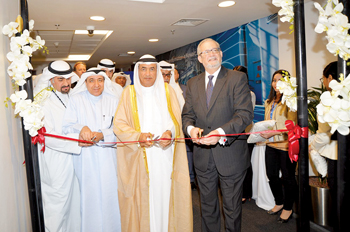 Officials at the opening of the GE Power's Monitoring & Diagnostics centre in Kuwait
