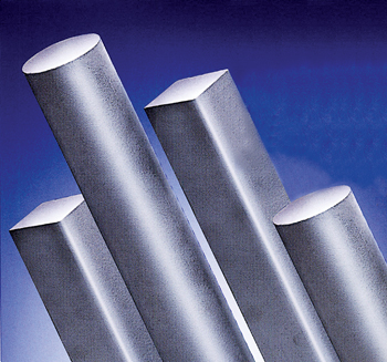 A range of round and square steel bars