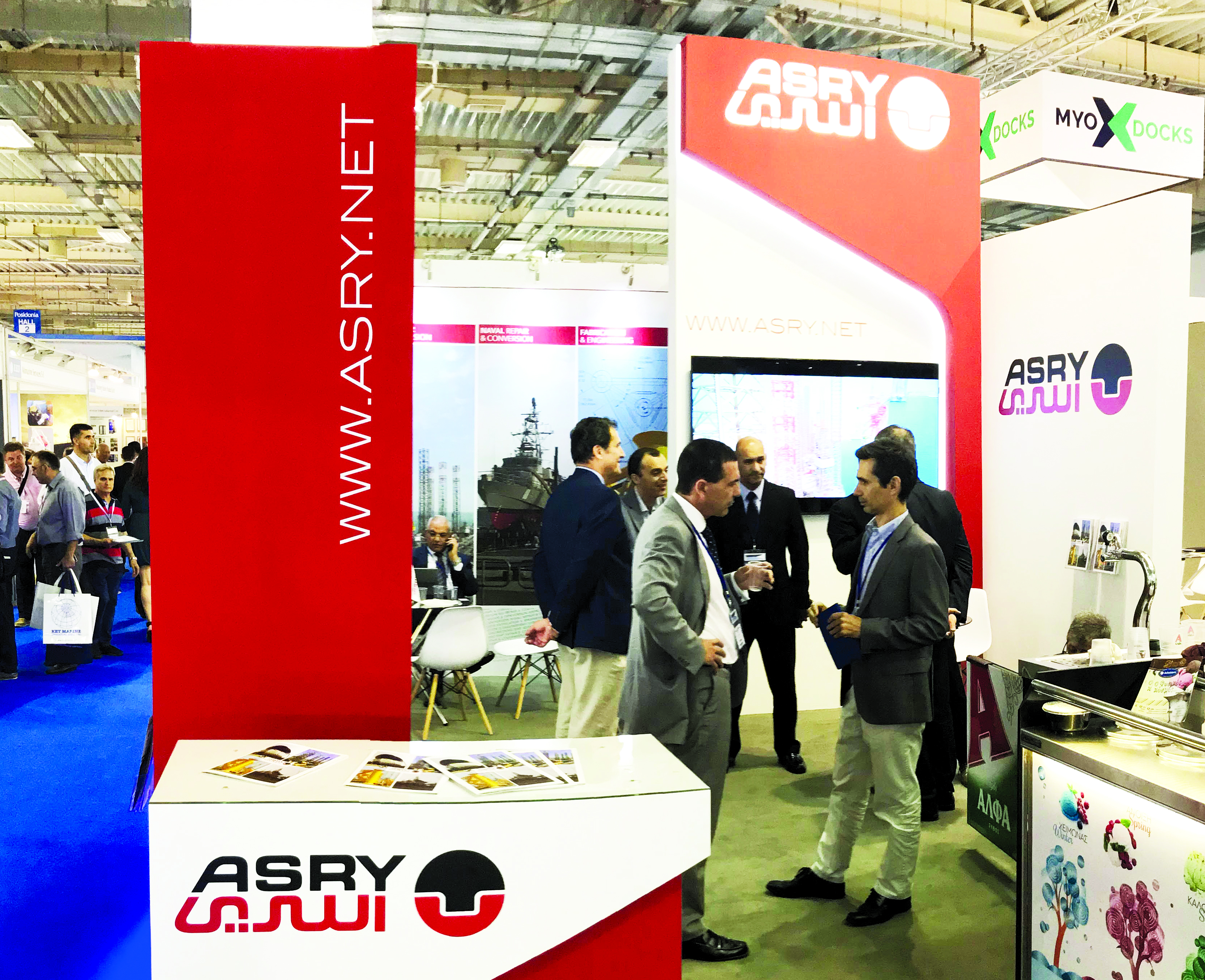 Asry stall at the event