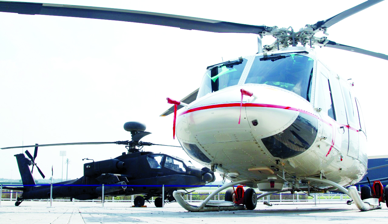 An image from a previous Dubai HeliShow
