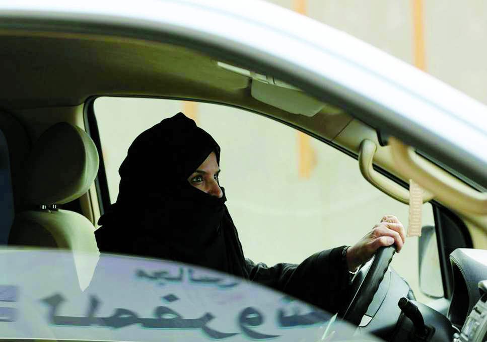 Women take to driving for the first time in Saudi Arabia