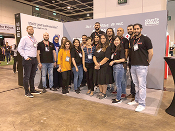 Representatives from Startup Bahrain pose for a group photo