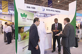 Sharjah-based Eco-Polymers: promoting eco-freindly solutions at an exhibition