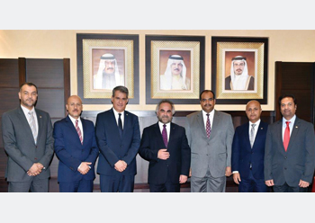 Dr Jawahery with the new team