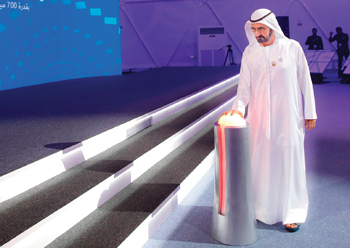 Sheikh Mohammed launching the project