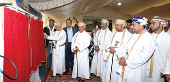 SV Pittie officials at the groung breaking ceremony of its new training centre in Sohar