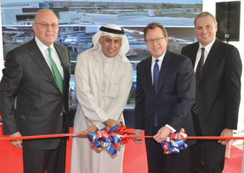 Al Zayani and WestPoint Home officials at the inauguration of the Bahrain facility