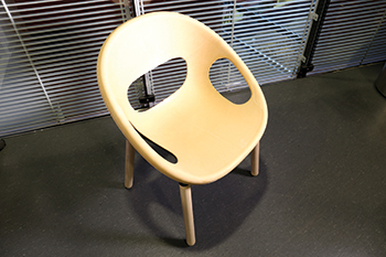 First product: a designer chair manufactured as a joint effort between VTT, Plastec Finland and KO-H